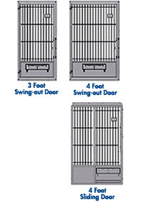 Large Animal Runs - Door Options