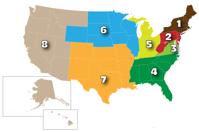 American Association for Laboratory Animal Science member districts and branches